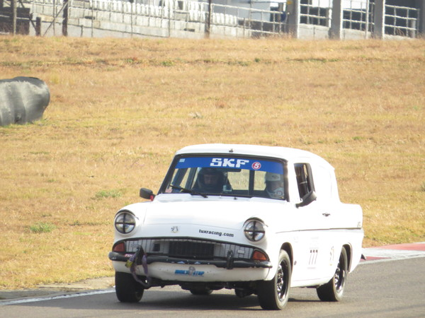 Fossa with Zwartkops Raceway winter grass in the background