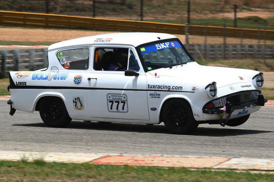 Fossa Ford Anglia in action 2, Pic: Kerry Hughes