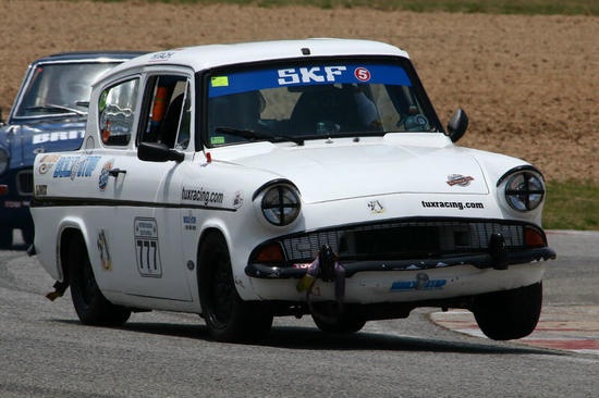 Fossa Ford Anglia in action 1, Pic: Kerry Hughes