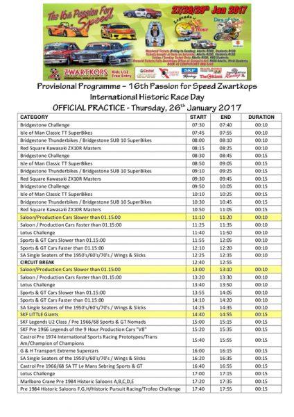 Programme 26.01.2017