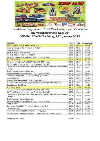 Programme 27.01.2017