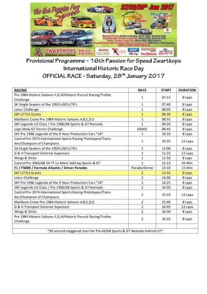 Programme 28.01.2017