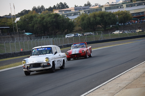 Fossa Ford Anglia and her red trailer, Mark Van Rooyen